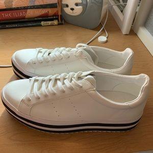 ZARA Platform White Sneakers
